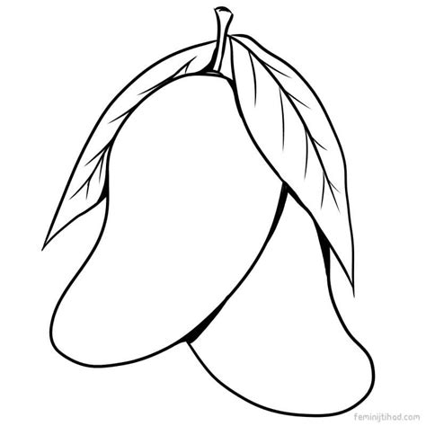 Coloring Mango by Mango Coloring Pages Sketch Coloring Page