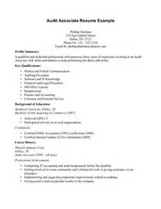 accounting audit resume sles