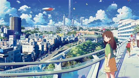City Anime Wallpaper - anime city wallpaper 1600x902 wallpoper 179523