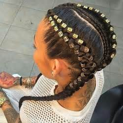 Feed in Braids with Beads Hairstyles
