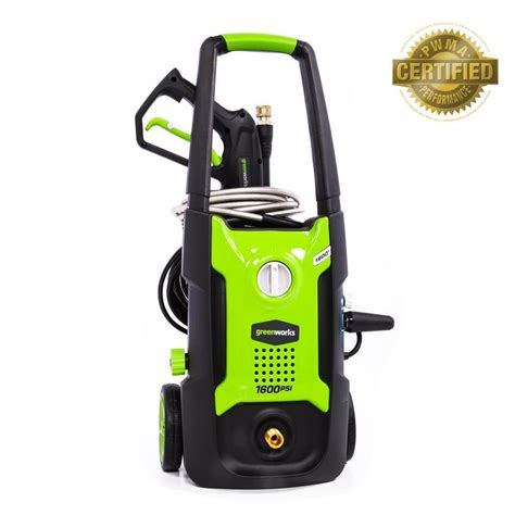 shop greenworks 1600 psi 1 2 gpm cold water electric pressure washer at lowes