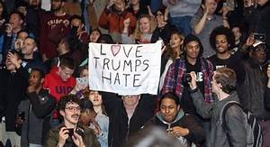 'Love Trumps Hate' Rally Outside Trump Speech at San Diego ...