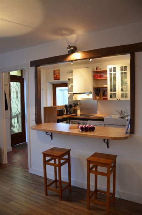 ouverture cuisine salon cuisine ouverte sur salon avec bar kirafes