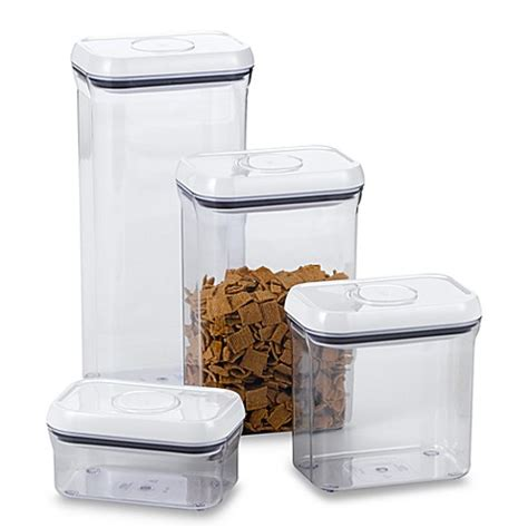 oxo cuisine oxo grips rectangular food storage pop container bed bath beyond