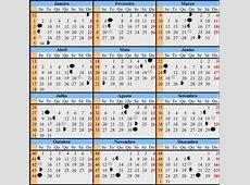 Calendário Lunar Satélite Natural Cultura Mix