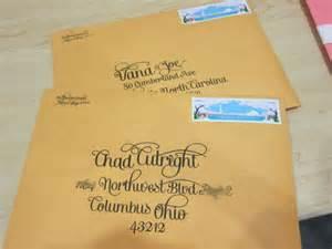 Save the Date Addressing Wedding Envelopes