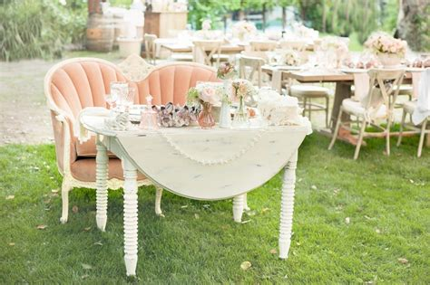 shabby chic wedding reception tables reception d 233 cor photos shabby chic sweetheart table inside weddings