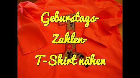 Zahlen Zum Aufnähen by Geburtstag Zahlen T Shirt N 228 Hen Applikation Aufn 228 Hen