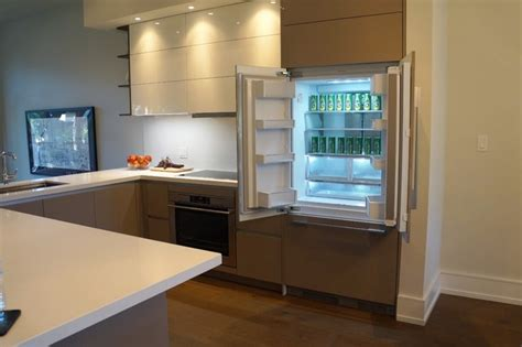 modern kitchen cabinets for flush integrated panel ready fridge fisher paykel 9215