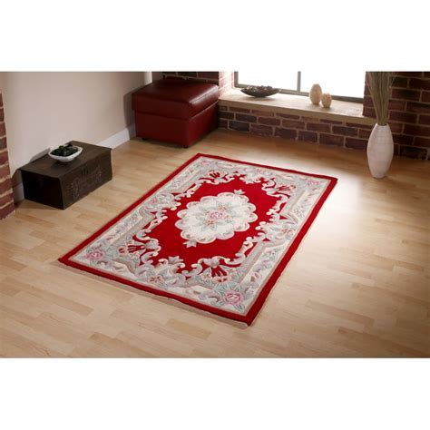 OCR Chinese Tientsin Red Aubusson Rug   OCR from Rughut UK