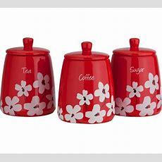 Buy Home Scatter Floral Storage Jars  Red At Argoscouk