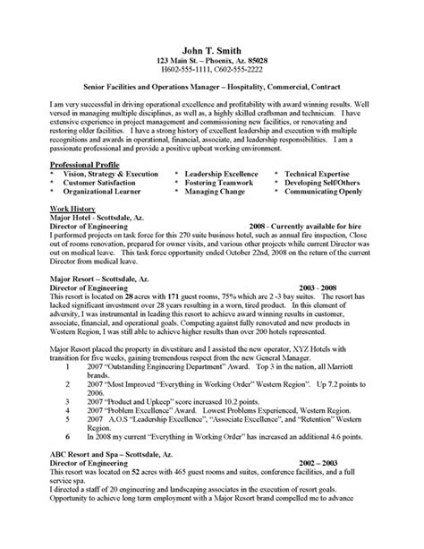 Hospitality Career Objective by Best Photos Of District Manager Resume Sle Wording