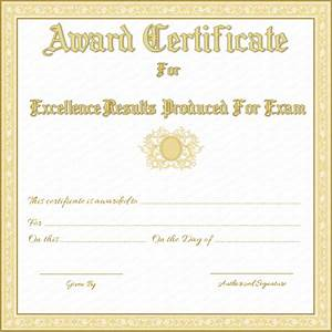 Free printable award certificate for best results in exams for Exam certificate template