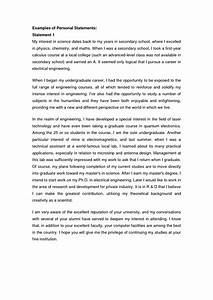College Essay Personal Statement Examples