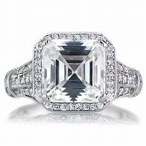 for all those vintage loving brides asscher cut engagement With asscher cut diamond wedding rings
