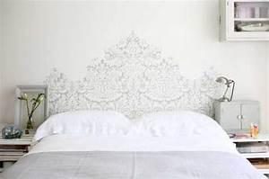Tete De Lit Blanche : la t te de lit donne envie de bricoler cr atif deco cool ~ Premium-room.com Idées de Décoration