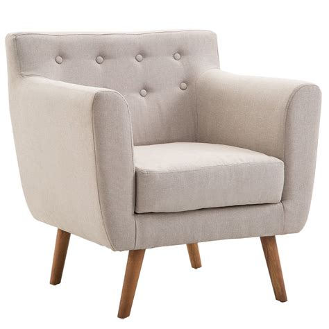 Living Room Chair Brands by Giantex Tufted Arm Chair Fabric Upholstered Wood Leg Mid