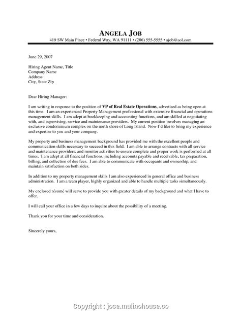 Cover Letter For Assistant Property Manager by New Cover Letter Sle For Property Manager Property