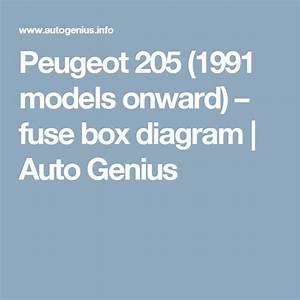 Peugeot 205  1991 Models Onward   U2013 Fuse Box Diagram