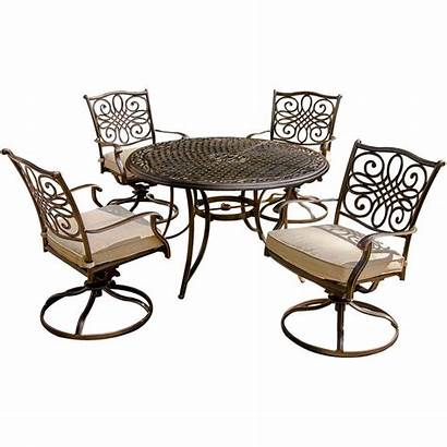 Patio Dining Chairs Swivel Table Outdoor Round