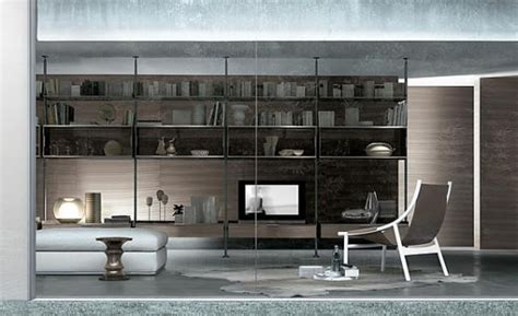 bookcases  living room  rimadesio digsdigs
