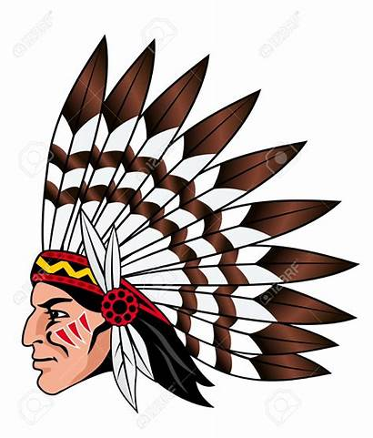 Native Indian Clip Clipart American Chief Head