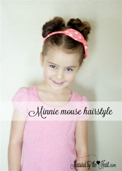 minnie mouse hairstyle tutorial  measured   heart