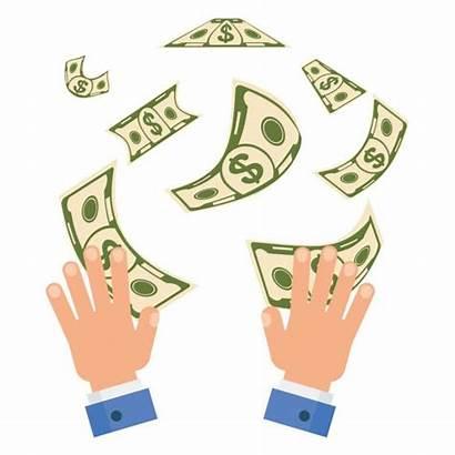 Money Spending Vector Illustrations Burning Illustration Clip