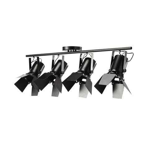 magasin chambre bebe lámpara de techo 4 focos orientables de metal negro an