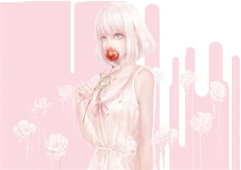 Anime Wallpaper Pastel - wallpaper anime pastel colors flower hair