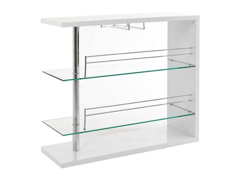 table de bar coloris blanc table cuisine conforama ventes pas cher