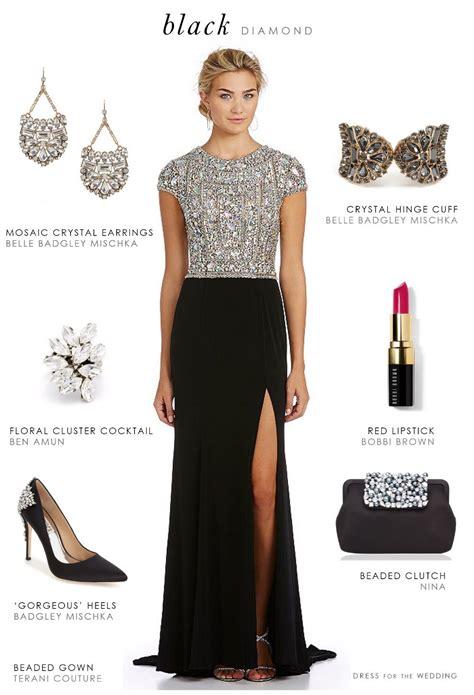 black beaded evening gown fashion black tie wedding