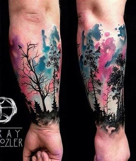 black with color tattoos watercolor tattoos best designs