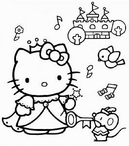 Coloring Pages of Princess Hello Kitty | Coloring