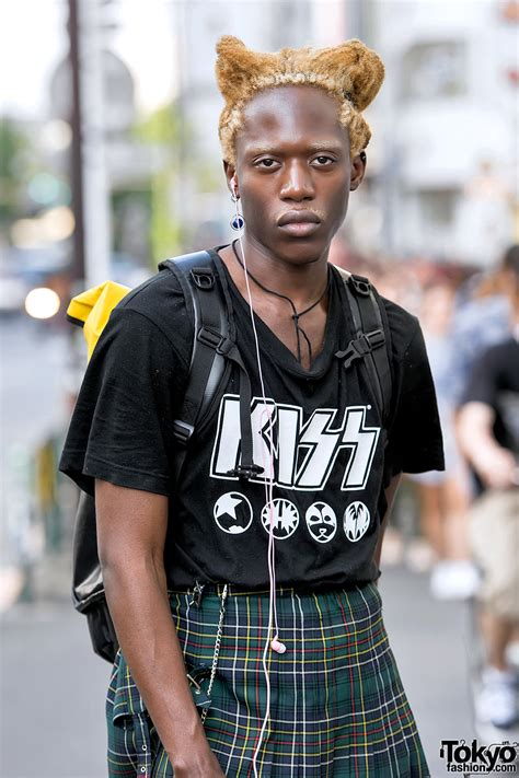 male fashion model  harajuku wearing vintage jean paul