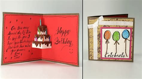 Birthday Greeting Cards Handmade Ideas Card Deals Review