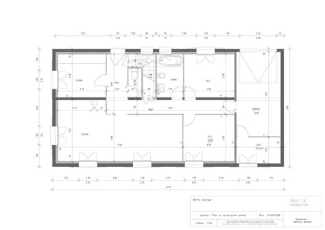 plan de maison de plain pied avec 3 chambres plans de rénovation de rdc de maison