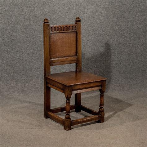 antique oak church dining side chair