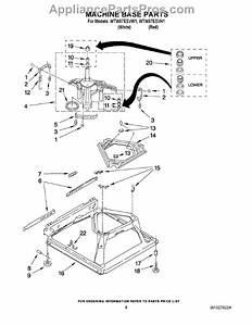 Parts For Whirlpool Wtw57esvw1  Machine Base Parts