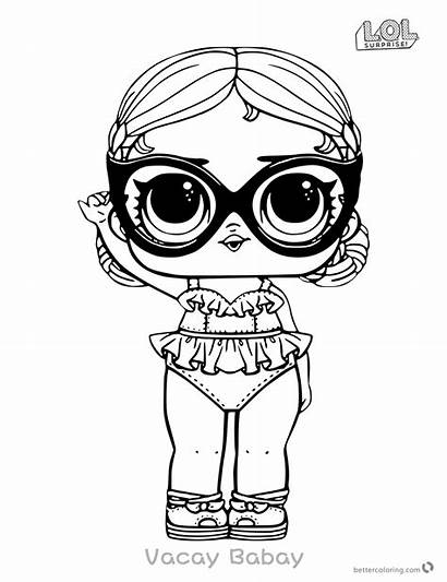 Lol Surprise Coloring Doll Pages Vacay Babay