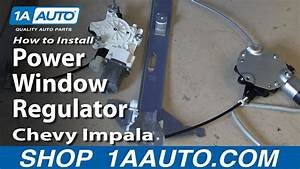 How To Replace Window Regulator 06-13 Chevy Impala