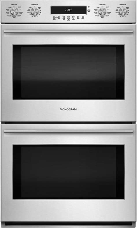 monogram  electronic convection double wall oven stainless steel zetshss home appliances