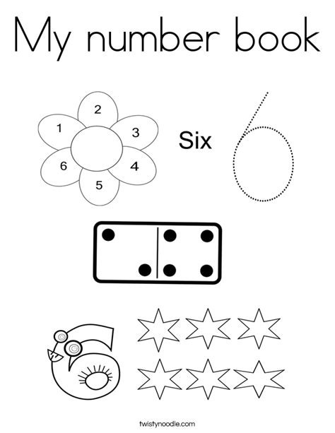 my number book coloring page twisty noodle 226 | my number book 7 coloring page