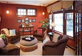Paint Color For Dark Living Room by Warm Paint Colors For Living Room With Chic Pendant Lamp Home Interior Amp