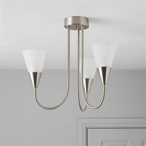 reya nickel effect 3 l pendant ceiling light