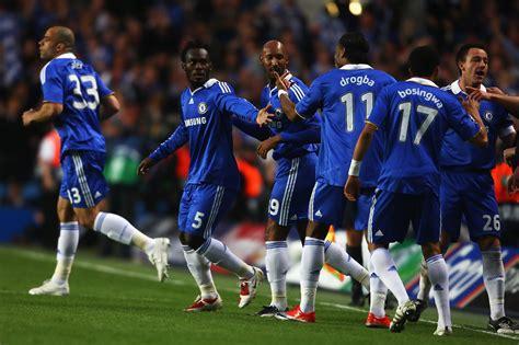 Michael Essien In Chelsea V Barcelona  Uefa Champions