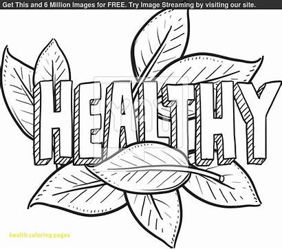 Coloring Healthy Health Pages Drawing Medical Books