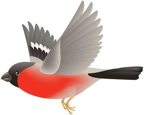 Red Flying Bird Transparent Clip Art Image