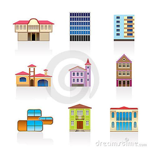 kind  houses  buildings  stock images