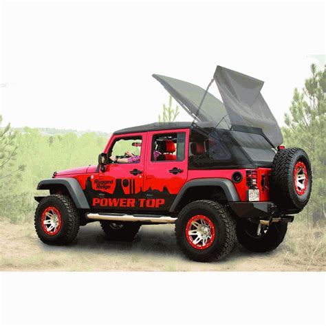 black jeep wrangler unlimited top off all things jeep powertop soft top kit for jeep wrangler